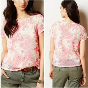 Anthro [Meadow Rue] Cherry Blossom Blouse